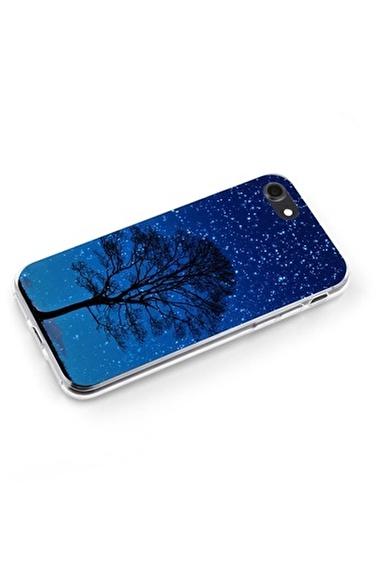 Lopard Apple İphone 8 Kılıf Gece Ağacı Kapak Renkli